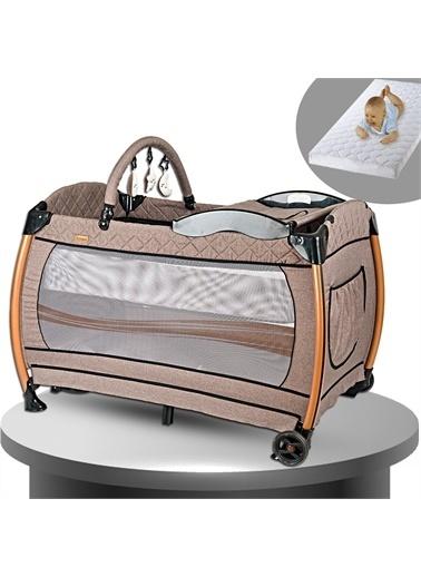 Baby Home Baby Home 600 Nanny 70x110 Bebek Oyun Parkı Yatak Beşik Sünger Yatak Hediye Kahve